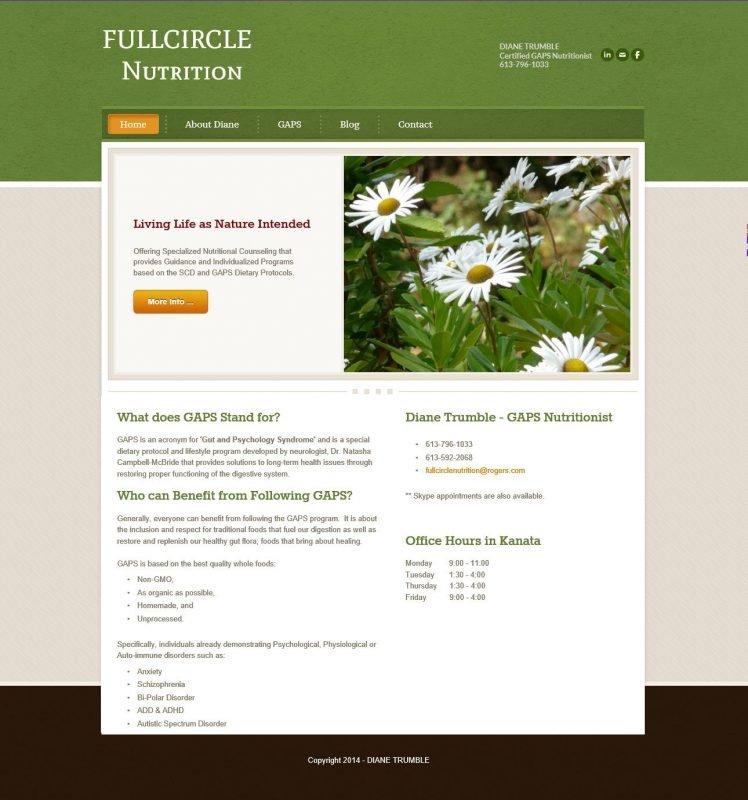 FULLCIRCLE NUTRITION HOMEPAGE