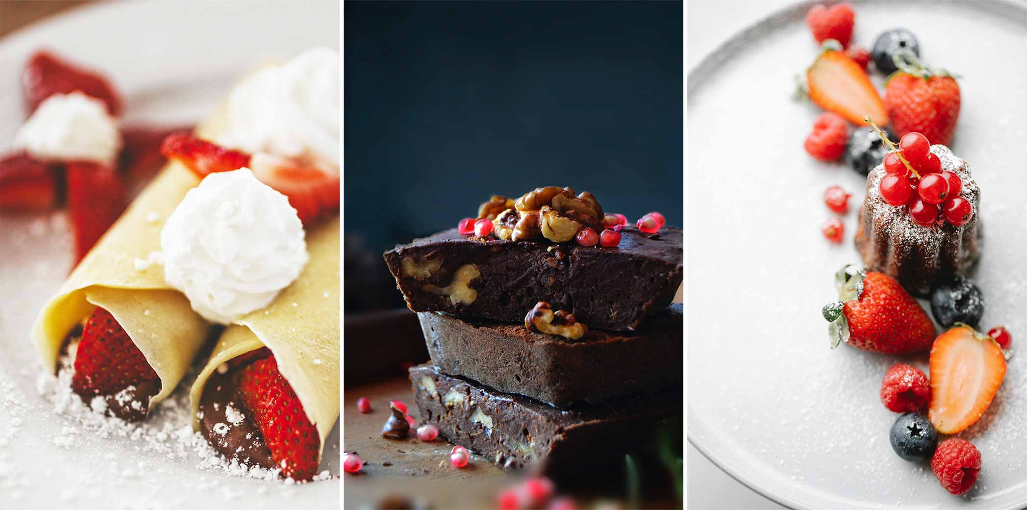 Decadent desserts showing the power of photography on your website